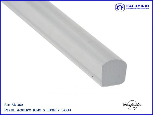 barra de acrílico acrilica para divisiones de baño